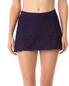 CROCHET ALL DAY NAVY CROCHET BIKINI SWIM SKIRT ANNE COLE 18MB40603-NAVY