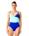LIVE IN COLOR BLUE COMBO THAT'S A WRAP LINGERIE MAILLOT ANNE COLE 18MO06701-BLCO