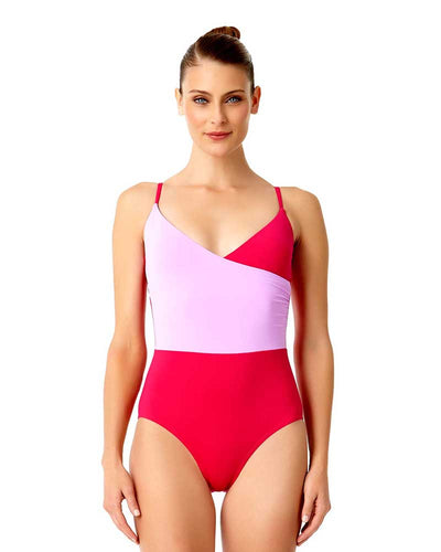 LIVE IN COLOR PINK COMBO THAT'S A WRAP LINGERIE MAILLOT ANNE COLE 18MO06701-PKCB