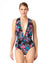 THAT'S A WRAP PLUNGE ONE PIECE BY ANNE COLE