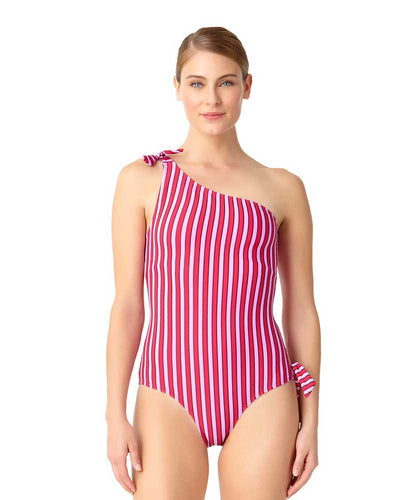 STRIPE RIGHT ONE SHOULDER ONE PIECE ANNE COLE 18MO07002-PKCB