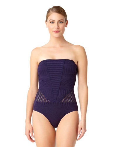 CROCHET ALL DAY NAVY CROCHET BANDEAU ONE PIECE ANNE COLE 18MO08103-NAVY