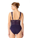 CROCHET ALL DAY NAVY CROCHET PLUNGE MAILLOT ANNE COLE 18MO08203-NAVY
