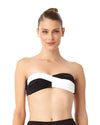 LIVE IN COLOR NOIRE TWIST FRONT BANDEAU BRA TOP ANNE COLE 18MT10101-BKWH