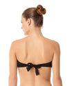 LIVE IN COLOR BLACK NOIRE TWIST FRONT BANDEAU BRA TOP ANNE COLE 18MT10101-BLK