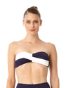 LIVE IN COLOR NAVY TWIST FRONT BANDEAU BRA TOP ANNE COLE 18MT10101-NAWH
