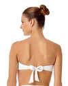 LIVE IN COLOR WHITE TWIST FRONT BANDEAU BRA TOP ANNE COLE 18MT10101-WHT