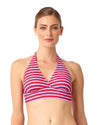 STRIPE RIGHT MARILYN HALTER BIKINI TOP ANNE COLE 18MT10302-PKCB
