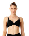 LIVE IN COLOR BLACK NOIRE TWIST FRONT BIKINI TOP ANNE COLE 18MT10501-BLK