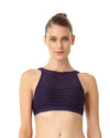 CROCHET ALL DAY NAVY CROCHET HIGH NECK BIKINI TOP ANNE COLE 18MT12703-NAVY