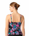 THAT'S A WRAP TWIST FRONT UNDERWIRE TANKINI TOP ANNE COLE 18MT20156-MULT