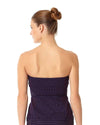 CROCHET ALL DAY NAVY CROCHET BANDEAU ALINE TANKINI TOP ANNE COLE 18MT23303-NAVY