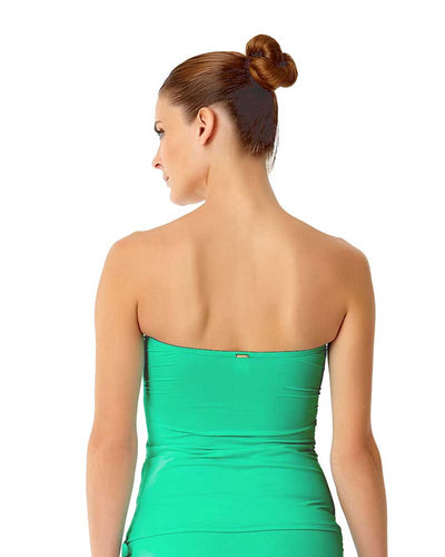 LIVE IN COLOR ACE OF JADES TWIST FRONT BANDEAU-KINI TOP ANNE COLE 18MT25001-JAD