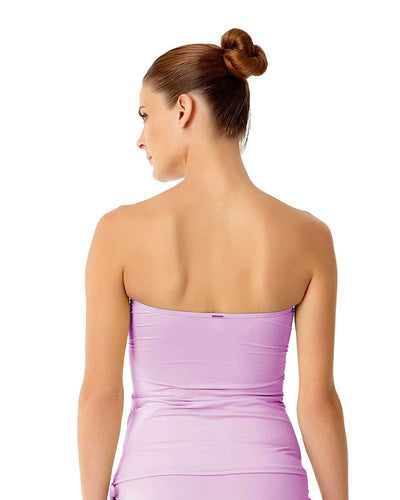 LIVE IN COLOR LILAC-ING TIME TWIST FRONT BANDEAU-KINI TOP ANNE COLE 18MT25001-LIL
