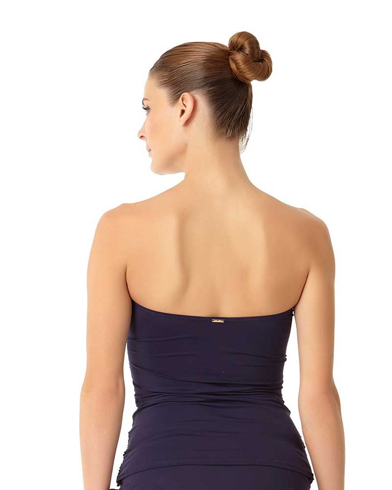 LIVE IN COLOR NEW NAVY TWIST FRONT BANDEAU-KINI TOP ANNE COLE 18MT25001-NAVY