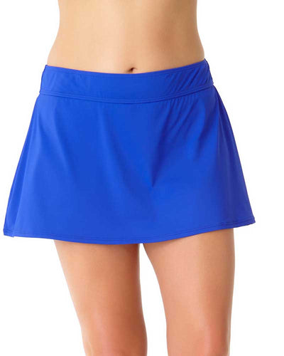 LIVE IN COLOR BLUEBERRY MUFFIN ROCK SWIM SKIRT ANNE COLE 18PB40001-BLBE