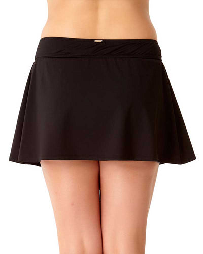 LIVE IN COLOR BLACK NOIRE ROCK SWIM SKIRT ANNE COLE 18PB40001-BLK