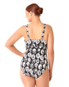 COMING UP ROSES UNDERWIRE SHIRRED ONE PIECE ANNE COLE 18PO01054-MULT