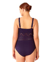 CROCHET ALL DAY NAVY CROCHET PLUNGE MAILLOT ANNE COLE 18PO08203-NAVY