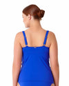LIVE IN COLOR BLUEBERRY MUFFIN TWIST FRONT SHIRRED UNDERWIRE TANKINI TOP ANNE COLE 18PT20101-BLBE