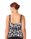 COMING UP ROSES SHIRRED TANKINI TOP ANNE COLE 18PT22954-MULT