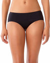 STUDIO SOLIDS NOIRE HIPSTER BOY BRIEF BIKINI BOTTOM ANNE COLE 18SB30101-BLK