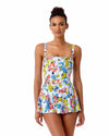 BRIGITTE FLORAL QUILTED SWIM DRESS ANNE COLE 18SD60590-MULT