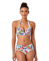 BRIGITTE FLORAL QUILTED BOY BRIEF BIKINI BOTTOM ANNE COLE 18SB33090-MULT