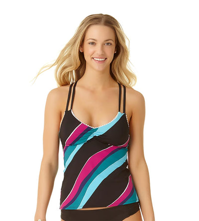 POM POM RINGS X-BACK TANKINI TOP COLE OF CALIFORNIA 19CT20614-MULT
