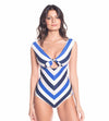 MARINE STRIPES AURORA ONE PIECE SAHA 19E09
