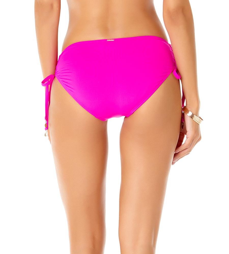COSMO PINK ALEX SIDE TIE BIKINI BOTTOM BY ANNE COLE
