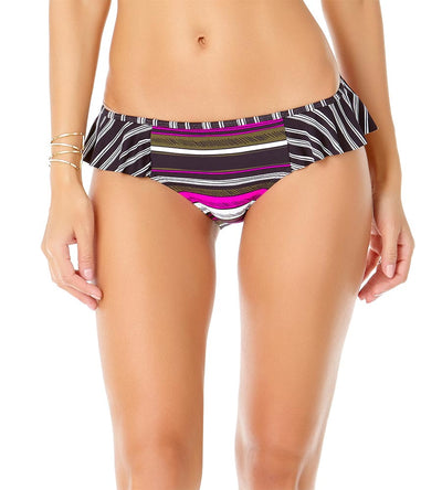 SKETCHBOOK STRIPE SIDE FLOUNCE BIKINI BOTTOM ANNE COLE 19MB31136-MULT