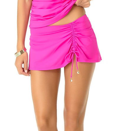 COSMO PINK ADJUSTABLE SARONG SWIM SKIRT ANNE COLE 19MB40701-PINK