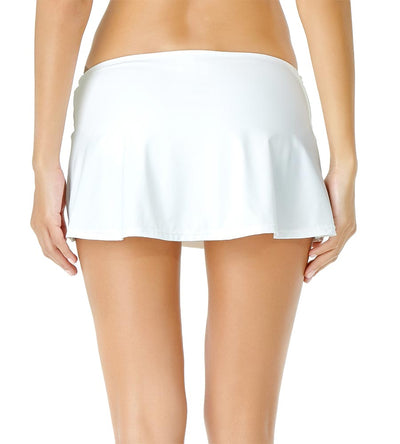 WHITE ADJUSTABLE SARONG SWIM SKIRT ANNE COLE 19MB40701-WHT
