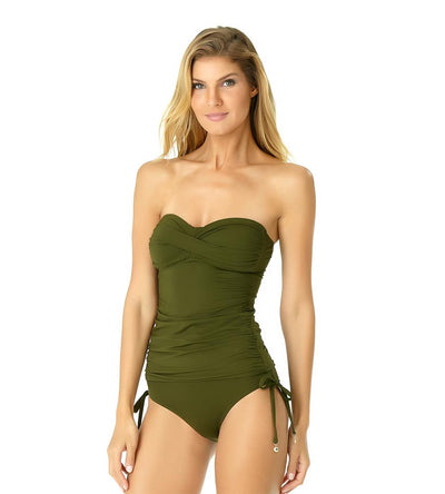 DIRTY MARTINI TWIST FRONT BANDEAU-KINI ANNE COLE 19MT25001-OLIV