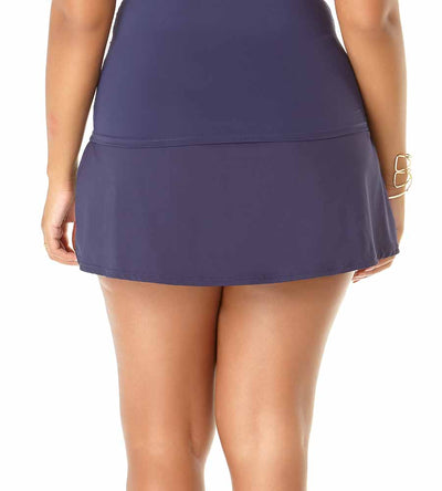 NEW NAVY ADJUSTABLE SARONG SWIM SKIRT ANNE COLE 19PB40701-NAVY
