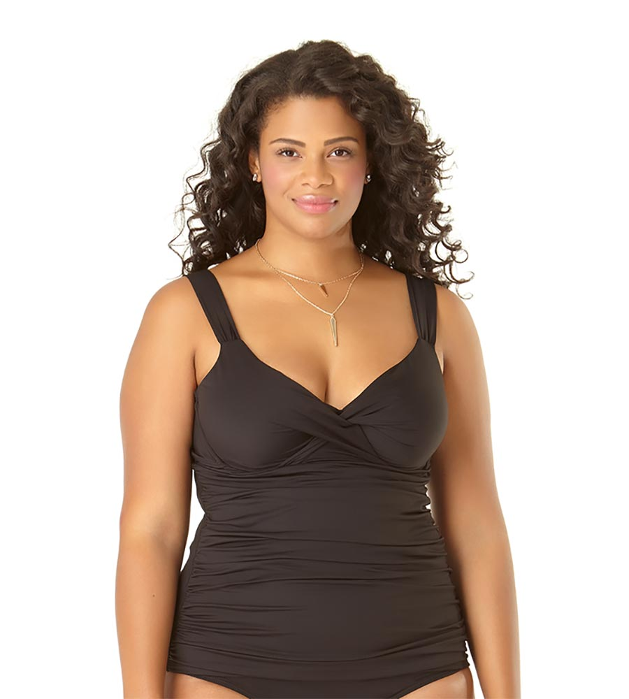 8ced1f5c959 BLACK UNDERWIRE TWIST TANKINI BY ANNE COLE - Kayokoko Swimwear USA