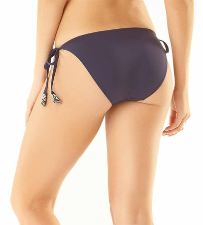 NAVY APPLE OF MY EYELET STRING BIKINI BOTTOM ANNE COLE 19SB34801-NAVY