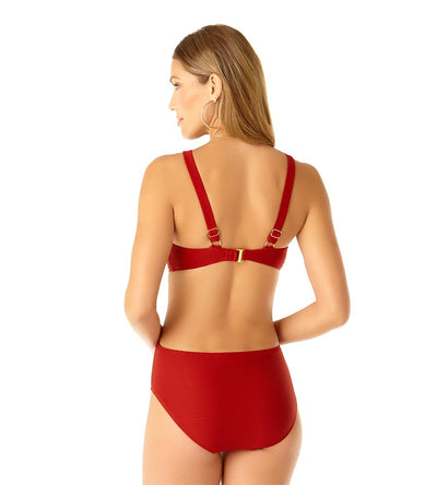 OH MY GODDESS CUTOUT ONE PIECE ANNE COLE 19SO04302-RED