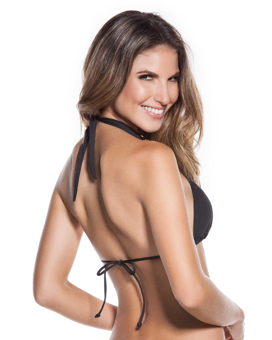 412e994acd1460 EVERY DAY IN COLORS BLACK EMBELLISHED HALTER TOP ONDADEMAR 2183-EVYC-8000