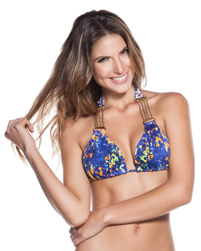 SAPHIRE EMBELLISHED HALTER TOP ONDADEMAR 2183-SAP
