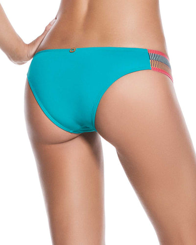 EVERY DAY IN COLORS TURQUOISE EMBELLISHED LOW RISE BOTTOM ONDADEMAR 22135-EVYC-2015