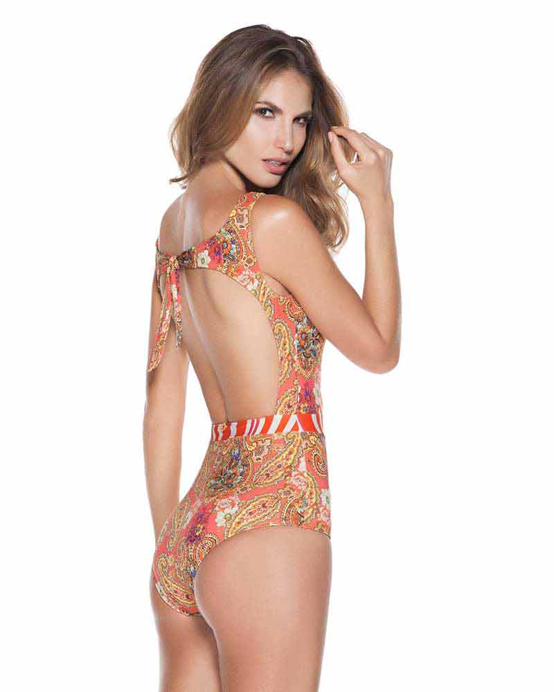 ff471efacb CAMELLIA HIGH NECK ONE PIECE BY ONDADEMAR - Kayokoko Swimwear USA
