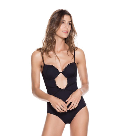 BLACK EVERY DAY UNDERWIRE ONE PIECE ONDADEMAR 23144-EVY-8000