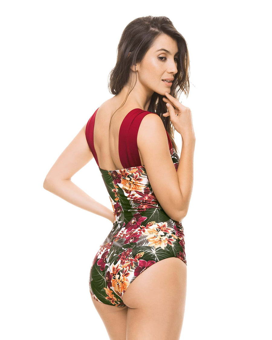 FLORALICIOUS DRAPE ONE PIECE BY ESTIVO