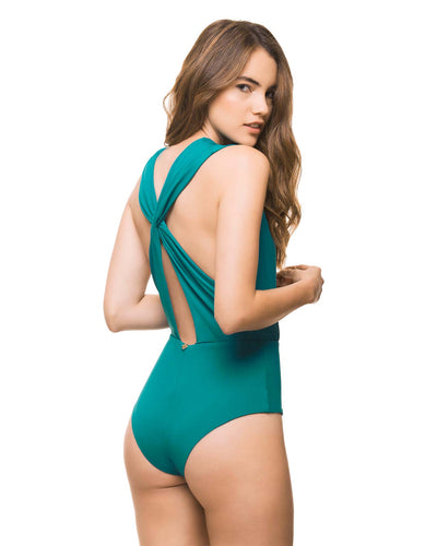 BASICS TEAL PLUNGE ONE PIECE ESTIVO 3033-SLD-51