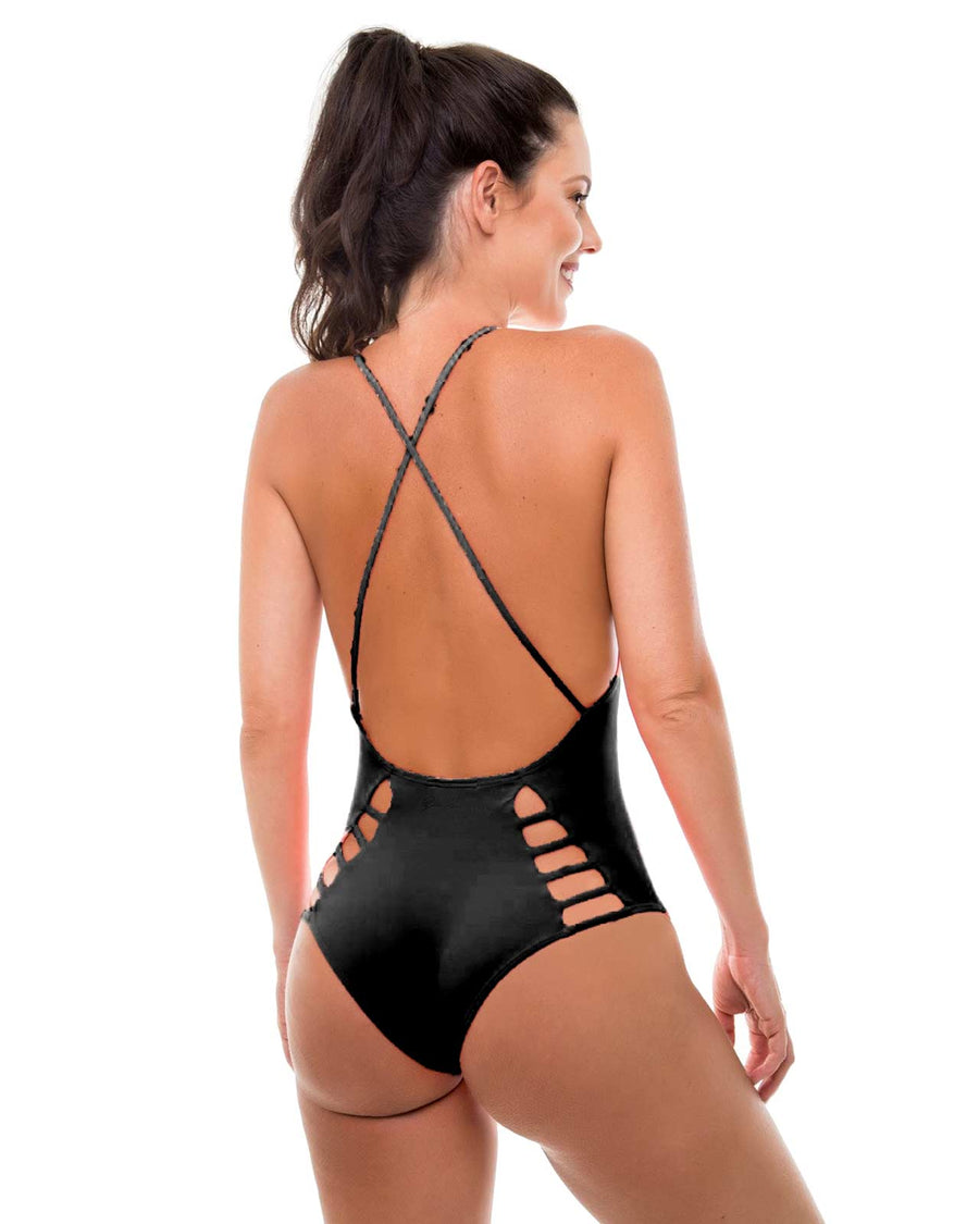 SOLID ONE PIECE  BY ZUE SWIMWEAR