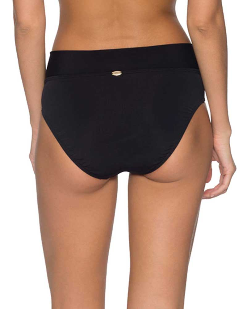 BLACK V-FRONT HIGH WAIST BOTTOM BY SUNSETS