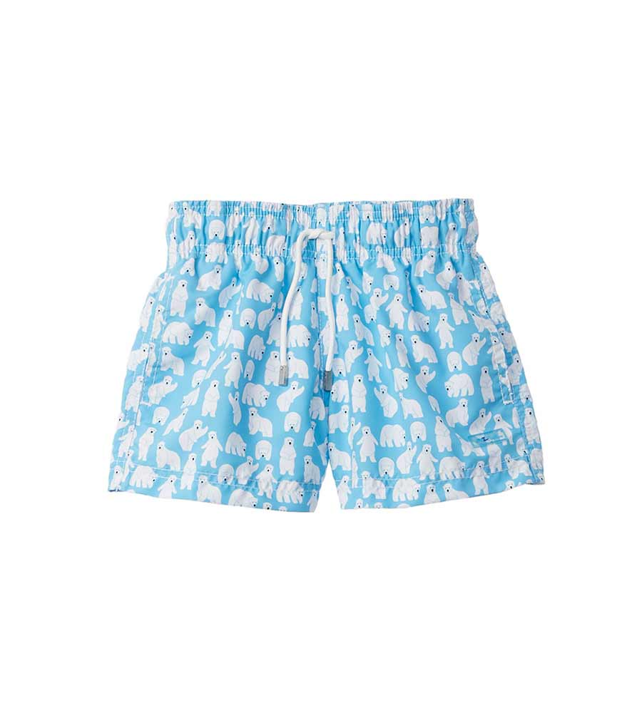 TURQUOISE POLAR BEAR SWIM SHORTS BY AZUL