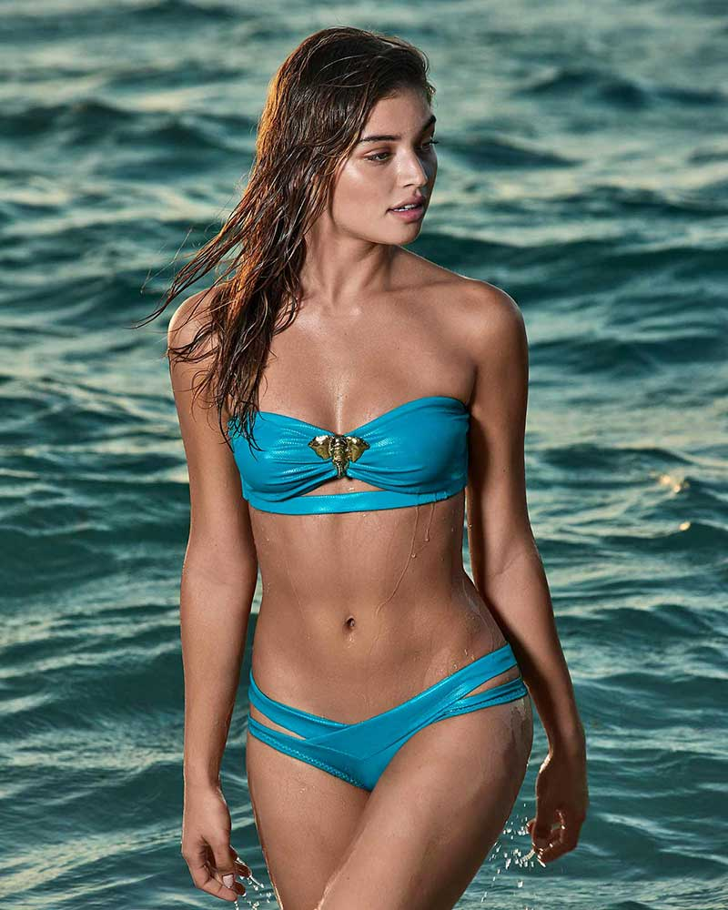 SAVAGE STRAPLESS BIKINI BOTTOM - WIDE ALMAMIA ALM-343PW